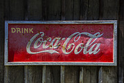 Vintage Coca Cola Sign Art - Drink Coca Cola by Garry Gay
