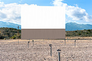 Drive In Movie Theatre Speakers Acrylic Prints - Drive in theater Acrylic Print by Joe Belanger