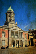 Watch Tower Prints - Dublin Castle. Streets of Dublin. Painting Collection Print by Jenny Rainbow