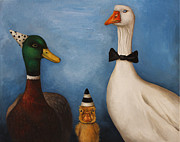 Nursery Rhyme Painting Metal Prints - Duck Duck Goose Metal Print by Leah Saulnier The Painting Maniac