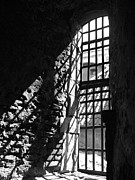 Castle Dungeon Framed Prints - Dungeon Window Inside Framed Print by Antony McAulay