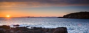 Scotland Framed Prints - Duntulm Bay Twilight Framed Print by Maciej Markiewicz