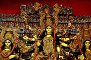 Goddess Durga Photo Posters - Durga Statue the Hindu Goddess #2 Poster by Amitava Ray