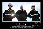 Duty Inspirational Quote Print by Stocktrek Images