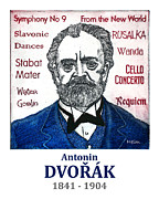 Czech Drawings Framed Prints - Dvorak Framed Print by Paul Helm
