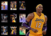 Lakers Metal Prints - Dwight Howard Metal Print by Joe Hamilton