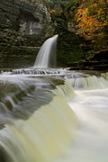 Finger Lakes Posters - Eagle Cliff Falls in autumn Poster by Jetson Nguyen