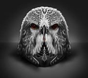 Eagle Helm Print by Bogdan  Bratu
