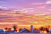 Photography Prints Prints - Early Country Morning Sunrise Print by James Bo Insogna