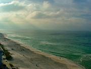 Panama City Beach Art - Early Morning Light on the Gulf by Julie Dant