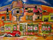 L Montreal Paintings - East of Rose de Lima by Michael Litvack