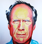 Clint Eastwood Art Paintings - Eastwood  by Grant  Swinney
