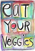 Eat Your Veggies  Print by Linda Woods