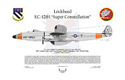 Lockheed Aircraft Prints - EC-121H Super Constellation Print by Arthur Eggers