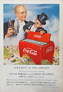 Cbs Posters - Edgar Bergen Coca Cola Poster by Nomad Art And  Design