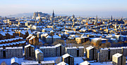 Craig Brown Art - Edinburgh Winter Cityscape by Craig Brown