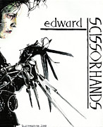 Tim Paintings - Edward Scissorhands by Sarah Stonehouse