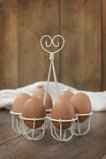 Kitchen Table Prints - Eggs Print by Christopher and Amanda Elwell