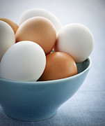 Eggs Photos - Eggs in bowl by Elena Elisseeva