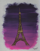 Rothko Painting Originals - Eiffel a la Rothko by Susan Plenzick