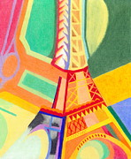 Eiffel Tower Drawings Metal Prints - Eiffel Tower 1 Metal Print by Michael Lewis