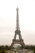 Fog Photo Posters - Eiffel tower Poster by Elena Elisseeva