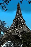 Paris Metal Prints - Eiffel Tower Metal Print by Galexa Ch