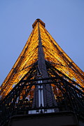 Night Metal Prints - Eiffel Tower - Paris France - 01135 Metal Print by DC Photographer