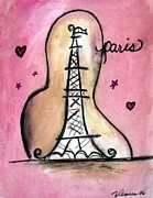 Modernism Mixed Media - Eiffel Tower by Venus