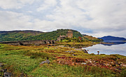 Castle On Mountain Prints - Eilean Donan Print by Marcia Colelli
