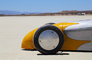 Land Speed Racing Framed Prints - El Mirage 3 Framed Print by Dennis Hedberg