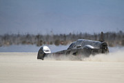 Land Speed Racing Framed Prints - El Mirage 5 Framed Print by Dennis Hedberg