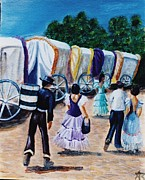 Seville Painting Prints - El Rocio Print by Amanda Stagnetto