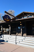 Rustic Photo Posters - El Tovar Historic Hotel Entrance in Grand Canyon Village Poster by Shawn OBrien