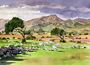Margaret Merry Prints - El Valle de Rodalquilar Print by Margaret Merry