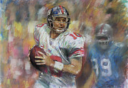 Eli Manning Nfl Ny Giants Print by Viola El