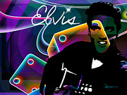 Grand Ole Opry Digital Art - Elvis by EricaMaxine  Price