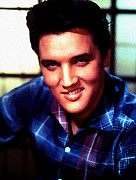 1950s Singer Digital Art - Elvis Presley by Allen Glass