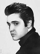 Elvis Photo Metal Prints - Elvis Presley Metal Print by Roberto Cortes