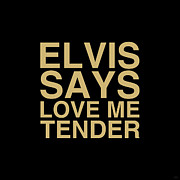 Love Me Tender Art - Elvis Says by NicoWriter
