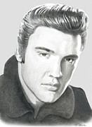 Tennessee Drawings - Elvis by Shayne Sadler