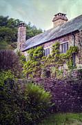 Stone Chimney Posters - English Cottage Poster by Joana Kruse