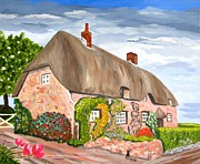 Chimneys Originals - English Cottage by Phyllis Kaltenbach