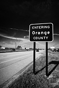 Entering Photo Prints - Entering Orange County On The Us 192 Highway Near Orlando Florida Usa Print by Joe Fox