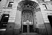 North Vancouver Framed Prints - entrance to the marine building in the heritage district Vancouver BC Canada Framed Print by Joe Fox
