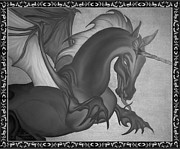 Magical Creatures Digital Art - Equus Draco Unicornis by Robert G Kernodle