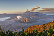 Asien Prints - eruption at Gunung Bromo Print by Juergen Ritterbach