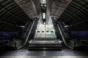 London England  Mixed Media - Escalator by Svetlana Sewell