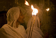 Kobby Dagan Posters - Ethiopian holy fire ceremony Poster by Kobby Dagan