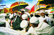 Ethiopian Jew Photographer Posters - Ethiopian Jews In Art Poster by Benny  Woodoo